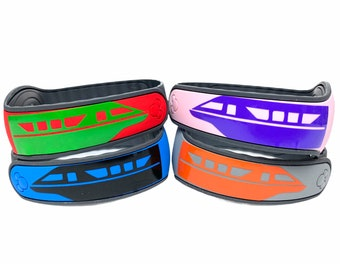 Monorail MagicBand 2.0 Decal | Custom Disney World Magic Band Vinyl Sticker | Wrist Band Decoration | Choose Your Colour | WDW Trip