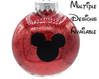 Mickey and Friends Christmas Tree Disc Ornament | Disney Christmas Tree Ornament | Mickey Minnie Donald Daisy Goofy Pluto