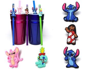 Lilo & Stitch Straw Buddies | Angel and Scrump Pencil Topper | Ready to Ship!