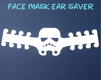 Stormtrooper Face Mask Ear Saver |Star Wars | Ready to Ship!
