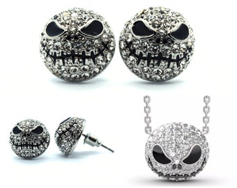 Jack Skellington Earrings & Necklace | Nightmare Before Christmas