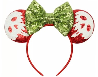 Sequin Poison Apple Evil Queen Snow White Minnie Ears | Ready to Ship!