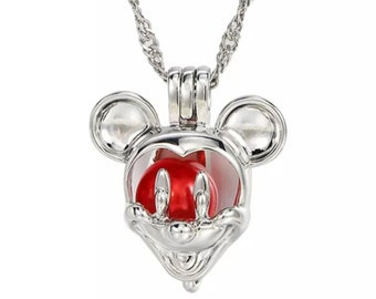 Silver Mickey Mouse Locket Necklace | Mickey Jewelry | Gift for Disney Fan