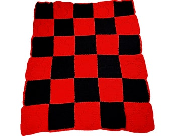 Red and Black Mickey Mouse Crochet Blanket | Hidden Mickey Blanket | Mickey Mouse Blanket | Mickey Blanket | Disney Blanket | Mickey Throw