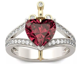 Disney Snow White Heart & Dagger Ring   Gift for Evil Queen Fan   Ready to Ship!