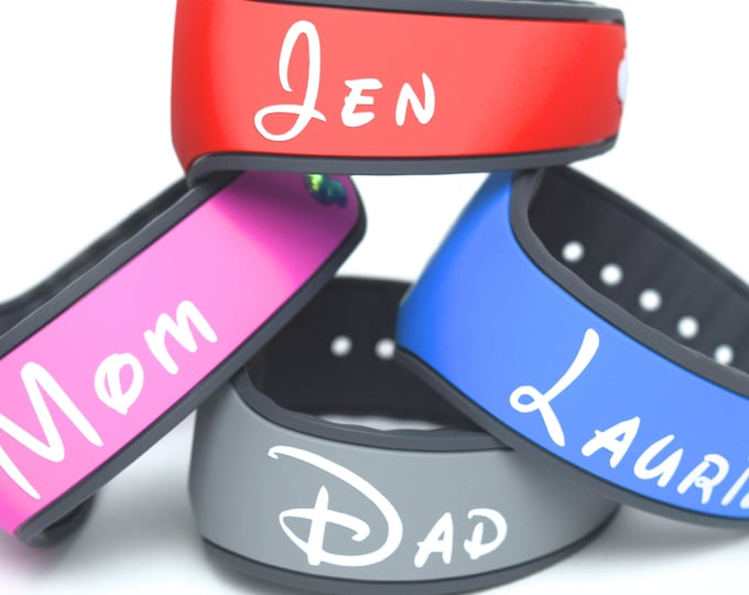 Featured listing image: Personalized MagicBand Name Decal | Custom Magic Band | Personalized Magic Band Name | MagicBand Name Sticker | MagicBand Personalized Decal
