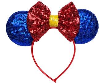 Snow White Minnie Ears   Ready to Ship!