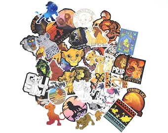 Lion King Stickers | Vinyl Sticker for Laptop, Scrapbook, Phone, Luggage, Journal, Party Decoration | Disney Characters | Assorted Stickers