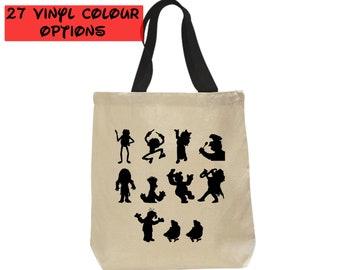 Custom Muppets Tote Bag   Custom Disney Tote Bag   Disney Bag   Kermit Miss Piggy Fozzy Bear