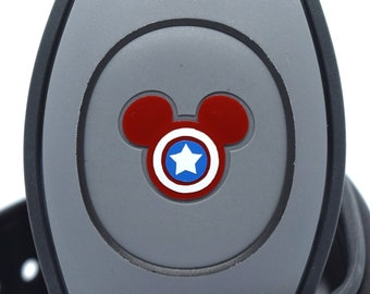 Captain America MagicBand 2.0 Decal | Marvel Avengers Magic Band Decal | Disney World Trip Vinyl Sticker