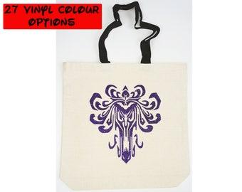 Custom Haunted Mansion Tote Bag | Gift for Haunted Mansion Fan | Disney Tote Bag | Haunted Mansion Bag | Haunted Mansion Wallpaper Design