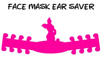 Piglet Face Mask Ear Saver | Winnie the Pooh | Ready to Ship