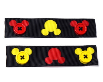 2 Mickey Mouse Face Mask Ear Savers | Ready to Ship!