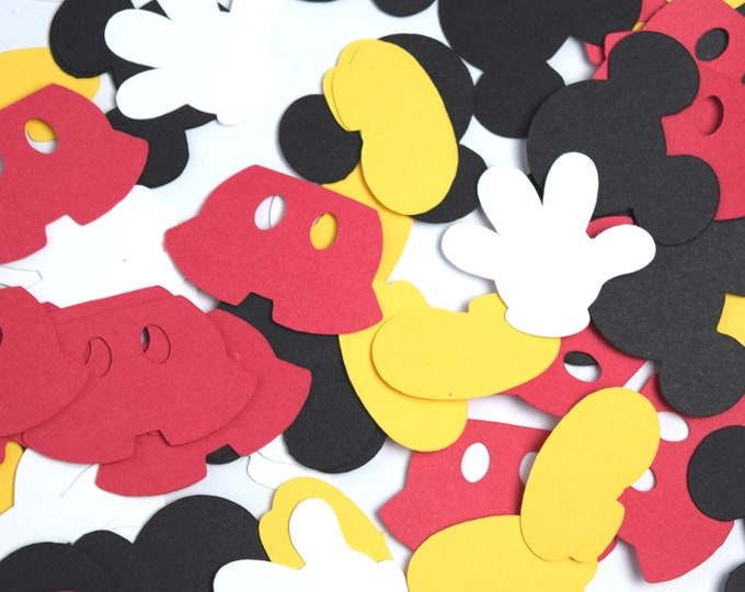Featured listing image: Mickey Mouse Confetti | Mickey Confetti | Mickey Mouse Party Supplies | Disney Confetti | Disney Party | Mickey Birthday | Mickey Party