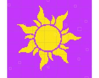 Tangled Sun Crochet Blanket Pattern | Disney Crochet Pattern | Rapunzel Pattern | Blanket Pattern | Blanket Crochet Pattern