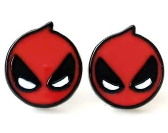 Deadpool Earrings | Marvel X-Men Avengers Jewelry | Ready to Ship!