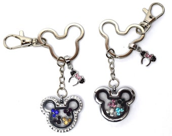 Disney Floating Charm Keychain | Mickey Mouse Floating Charm Key Chain | Mickey Mouse Keychain | Disney Purse Charm | Mickey Purse Charm