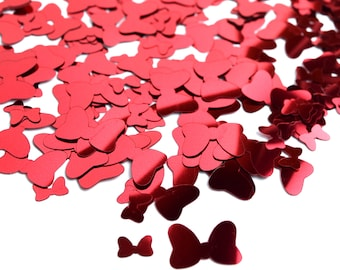 Foil Minnie Mouse Bow Confetti | Minnie Mouse Confetti | Minnie Mouse Decorations | Disney Confetti | Disney Birthday Party Decorations