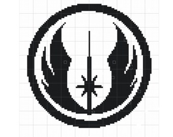 Jedi Crochet Blanket Pattern | Disney Crochet Pattern | Star Wars Pattern | Blanket Pattern | Blanket Crochet Pattern | Jedi Symbol