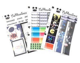 Nightmare Before Christmas Monthly Planner Stickers | Erin Condren | For LifePlanners Organizers Journal Calendars | Permanent and Removable