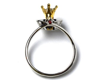 Disney Villain Evil Queen Crown & Shawl Ring   Gift for Snow White Fan   Ready to Ship!