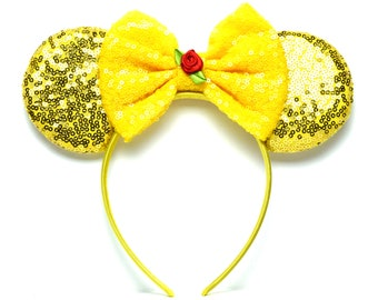 Sequin Belle Beauty & the Beast Minnie Ears | Ready to Ship!