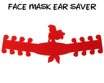 Ariel Face Mask Ear Saver | The Little Mermaid | Ready to Ship!