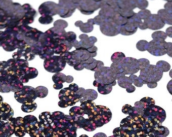Navy Holographic Mickey Mouse Confetti   Navy Mickey Confetti   Mickey Decorations   Disney Confetti   Disney Birthday Party Decorations