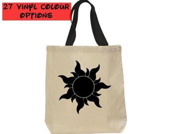 Custom Tangled Sun Tote Bag | Custom Tangled Tote Bag | Custom Rapunzel Bag | Tangled Bag | Sun Bag | Disney Tote Bag | Disney Canvas Tote