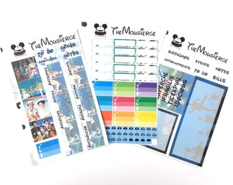 Mary Poppins Monthly Planner Stickers | Erin Condren | For LifePlanners Organizers Journals Calendars | Permanent and Removable