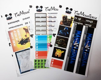 The Mandalorian Monthly Planner Stickers | Erin Condren | For LifePlanners Organizers Journals Calendars | Permanent and Removable