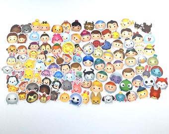 Tsum Tsum Disney Stickers | Vinyl Sticker for Laptop, Scrapbook, Phone, Luggage, Journal, Party Decoration | Assorted Stickers
