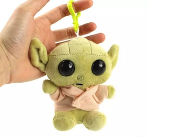 Baby Yoda Plush Keychain or Bag Charm | Grogu Star Wars Purse Charm | Gift for Mandalorian Fan | The Child Character | Ready to Ship
