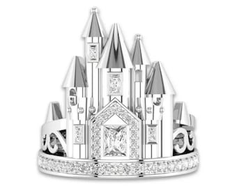 Disney Castle Ring   Ready to Ship!