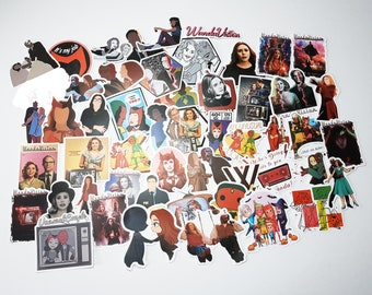 Wandavision Stickers   Vinyl Sticker for Laptop, Scrapbook, Phone, Luggage, Journal, Party Decoration   Assorted Stickers