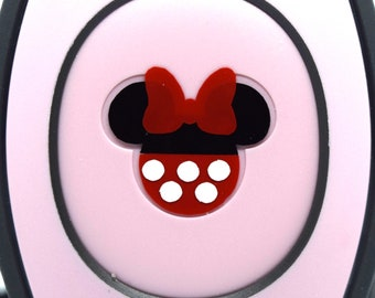 Minnie Mouse MagicBand 2.0 Decals   Magic Band Decal   Disney World Trip Vinyl Sticker   Custom Colors   Wrist Band Decoration for WDW