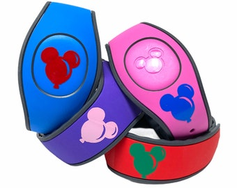 Mickey Balloons MagicBand 2.0 Decal | Custom Disney World Magic Band Vinyl Sticker | Wrist Band Decoration | Choose Your Colour | WDW Trip