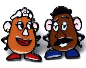 Mr. & Mrs. Potato Head Stud Earrings | Toy Story | Gift for Disney Fan | Ready to Ship!