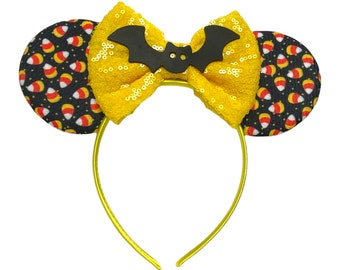Halloween Treat Minnie Ears | Candy Corn & Bat Trip Accessories | Disneyland | Disney World | Disney Bounding Costume Cosplay