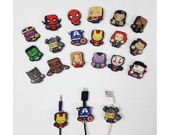 Marvel Avengers Cable Protectors | Android iPhone cables
