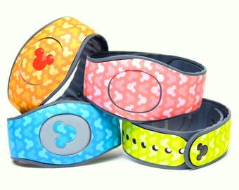 Pastel Hidden Mickey MagicBand 2.0 Skin | Magic Band Decal in 12 Colors
