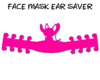 Angel Face Mask Ear Saver   Lilo & Stitch   Ready to Ship!