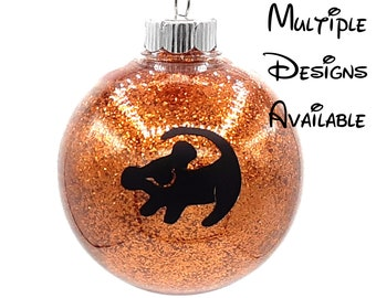 Lion King Christmas Tree Ball Ornament   Disney Christmas Tree Ornament   Lion King Ornament   Simba    Pumbaa   Timon   Zazu Scar