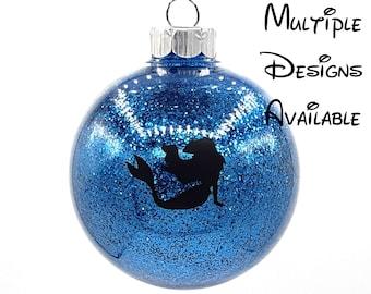 Little Mermaid Christmas Tree Ball Ornament | Disney Christmas Tree Ornament | Little Mermaid | Ariel Ursula Triton Eels Sebastian Flounder