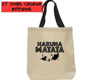 Custom Hakuna Matata Tote Bag | Custom Lion King Tote Bag | Custom Hakuna Matata Bag | Lion King Bag | Disney Tote Bag | Disney Canvas Tote