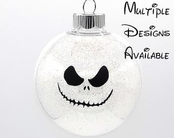 Nightmare Before Christmas Tree Ball Ornament | Disney Ornament | Nightmare Before Christmas | Jack Skellington Sally Zero Oogie Boogie
