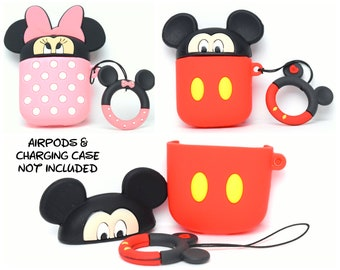 Mickey or Minnie Mouse AirPods Case Cover | AirPods & Charging Case NOT Included