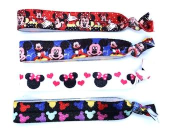 Mickey and Minnie Hair Ties   Ready to Ship!