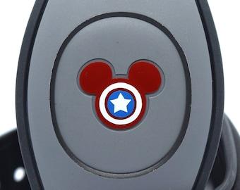 Captain America MagicBand 2.0 Decal | Marvel Avengers Magic Band Decal | Disney World Trip Vinyl Sticker