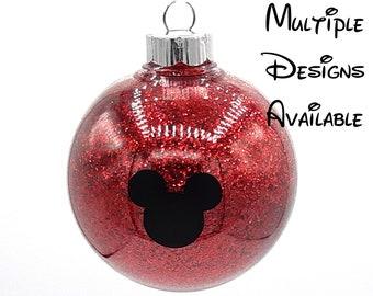 Mickey and Friends Christmas Tree Ball Ornament   Disney Christmas Tree Ornament   Mickey Minnie Donald Daisy Goofy Pluto